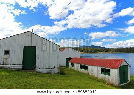 Traditional old farm, Beagle Channel, Ushuaia, Tierra Del Fuego, Patagonia Argentina