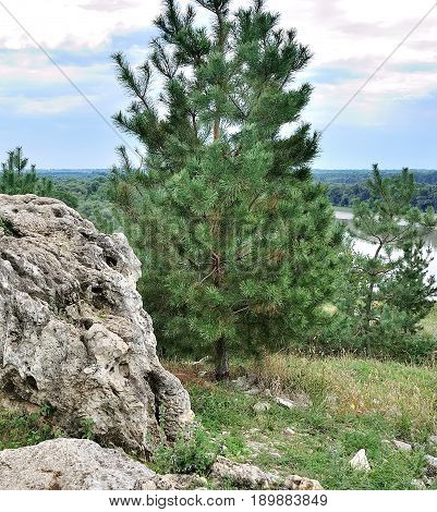 Rocky Caucasus Mountains landscape in Krasnodar Russia
