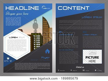 Vector Flyer, Corporate Business, Annual Report, Brochure Design And Cover Presentation With White H