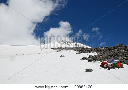 Acclimatization in the foothills of Mount Elbrus