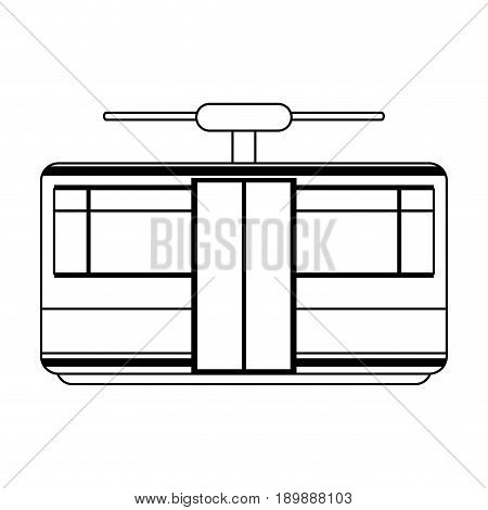 funicular or cable car icon image vector illustration design  black line