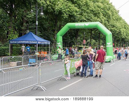 BERLIN GERMANY - JUNE 5 2017: Spectators Watching At International German Gymnastics Festival in Berlin