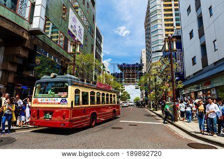 Bus At Yokohama China Town
