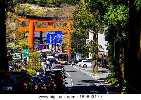 Traffic Jam At Hakone Street