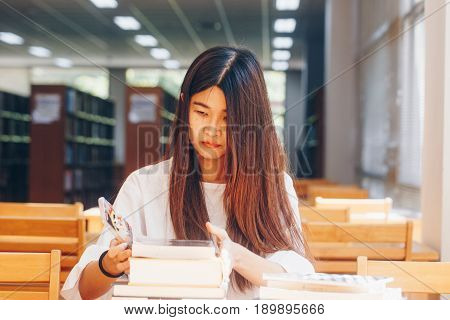 Student Women Reading Book