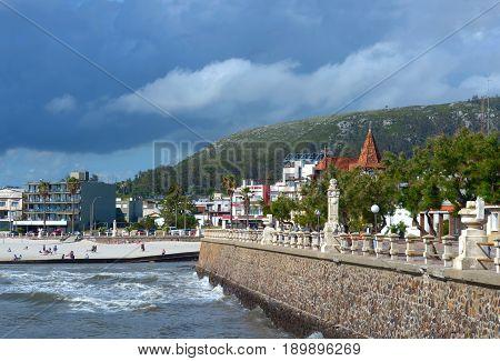 Storm Is Coming To The Resort Town Of Piriapolis In The Uruguay Coast, Maldonado Province