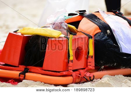 patient victim drowning on oxygen mask with bag