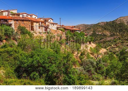 Panoramic View Near Of Kato Lefkara - Is The Most Famous Village In The Troodos Mountains. Limassol