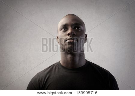 Portrait of black man