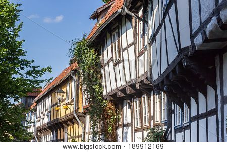 Row Of Half-timbered Houses In The Center Of Detmold