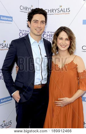 LOS ANGELES - JUN 3:  Ben Feldman, Michelle Feldman at the 16th Annual Chrysalis Butterfly Ball at the Private Estate on June 3, 2017 in Los Angeles, CA