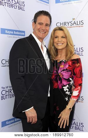 LOS ANGELES - JUN 3:  John Donaldson, Vanna White at the 16th Annual Chrysalis Butterfly Ball at the Private Estate on June 3, 2017 in Los Angeles, CA