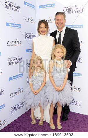 LOS ANGELES - JUN 3:  Rebecca Gayheart, Eric Dane, Georgia Dane, Billie Dane at the 16th Annual Chrysalis Butterfly Ball at the Private Estate on June 3, 2017 in Los Angeles, CA