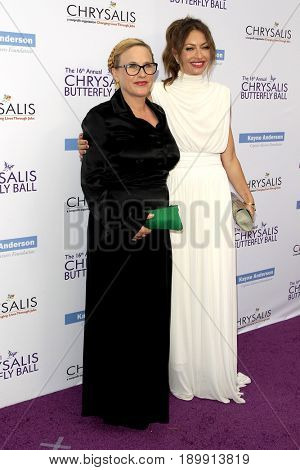 LOS ANGELES - JUN 3:  Patricia Arquette , Rebecca Gayheart at the 16th Annual Chrysalis Butterfly Ball at the Private Estate on June 3, 2017 in Los Angeles, CA
