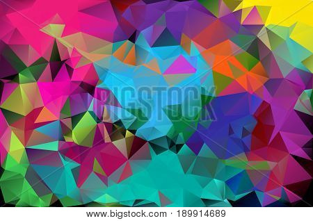 Abstract Background Pattern Consisting Of Triangles. Raster Copy.