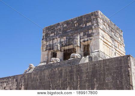 Principal Ball Court At Chichen Itza, Yucatan, Mexico