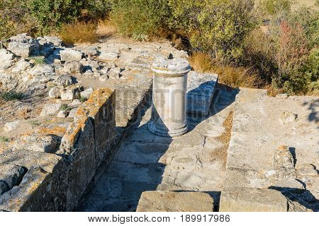 Northeast Bastion In Ancient City Troy. Turkey