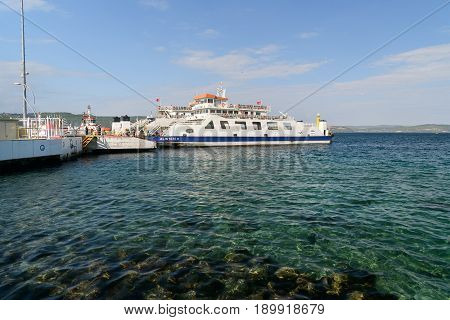 Canakkale Ferry Pier. Turkey