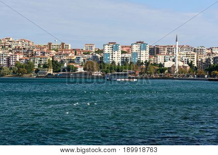 View Of Embankment In Canakkale, Turkey