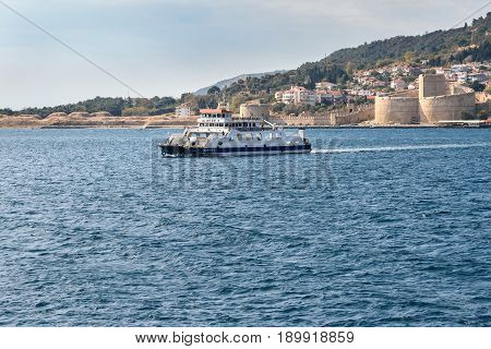 Ferry Boat From Gallipoli Peninsula. Turkey