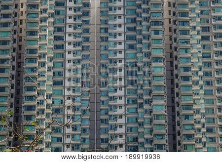 Buildings At Downtown In Hong Kong