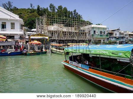 Tai O Village With A Canal In Hong Kong