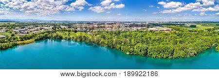 View of Illkirch-Graffenstaden town near Strasbourg - Bas-Rhin, France