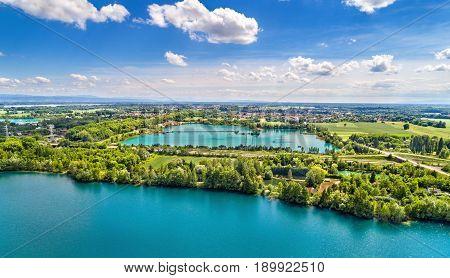Lakes between Illkirch-Graffenstaden and Eschau near Strasbourg - Bas-Rhin, France