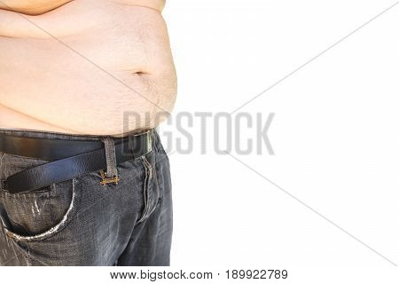 flabby belly man waist belt fat background