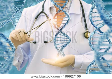 Study Of Dna Molecules By A Doctor .