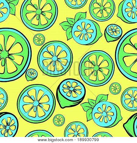 Summer sale background with lemon. Summer sale banner.