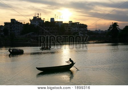 Ferry Men, Sunset
