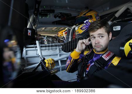 June 02, 2017 - Dover, DE, USA: Ricky Stenhouse Jr. (17) hangs out in the garage prior to practice for the AAA 400 Drive for Autism at Dover International Speedway in Dover, DE.