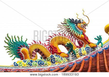 Dragon Statue During The Chinese New Year.