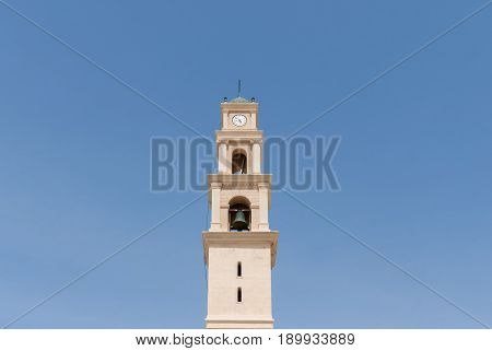 St. Peter's Church in the Old City Jaffa Israel. Church is a built in 1654