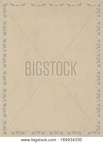 Cream-colored neutral paper base with a fine frame for artistic bases