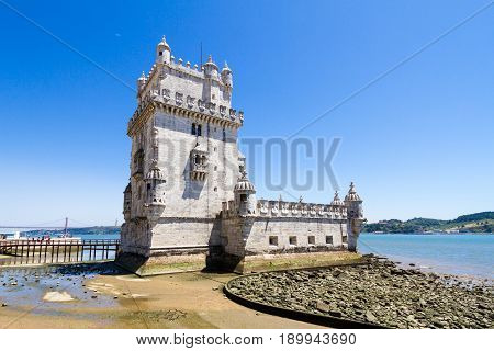 Belem Tower (Portuguese: Torre de Belem) or the Tower of St Vincent is a fortified tower located in the civil parish of Santa Maria de Belém in the municipality of Lisbon Portugal. It is a UNESCO World Heritage Site