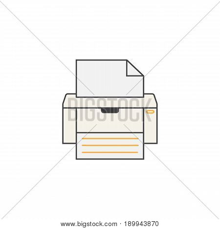 Fax line icon, printer, electronic device, social media, filled vector graphics, a colorful linear pattern on a white background, eps 10.