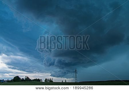 The photo shows a dark, menacing storm cloud. This is a so-called