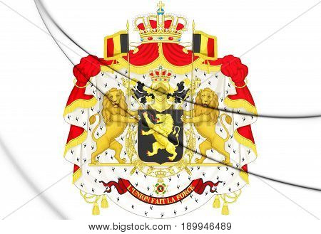 3D Belgium Coat Of Arms.