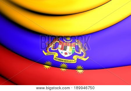 3D Flag Of Federal Territories Of Malaysia.