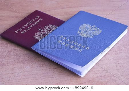 Employment History Book And Russian Federation Passport