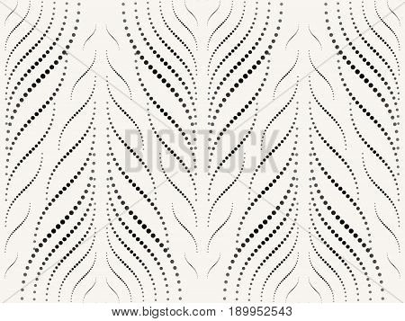 Abstract seamless pattern of smooth lines and halftones. Elegant geometric forms. The gradual change in size.