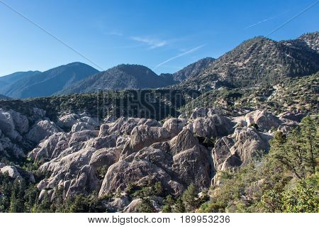 The Devils Punch Bowl Park, Los Angeles County CA. Rocky ravine with awesome views in 360 degrees.