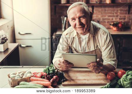 Old Man In Kitchen