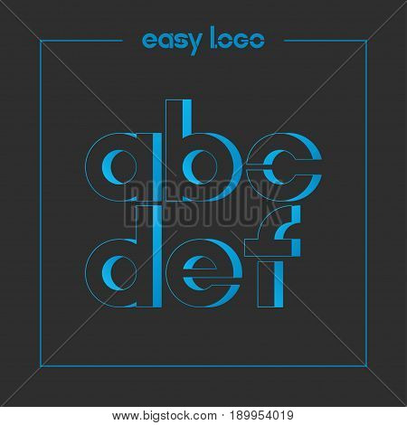 letter A B C D E F logo alphabet icon set background 10 eps