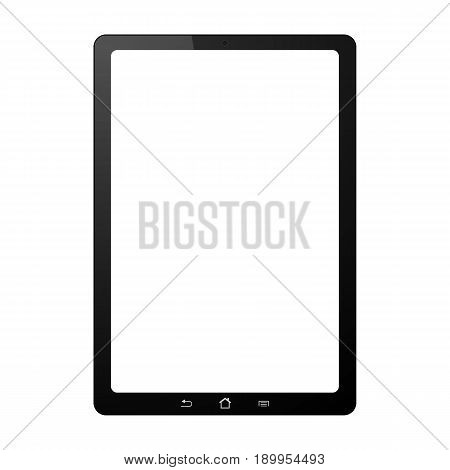 Tablet on white background. Isolated with touchscreen.