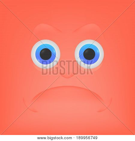 Angry emoticon, emoji, smiley - vector illustration.
