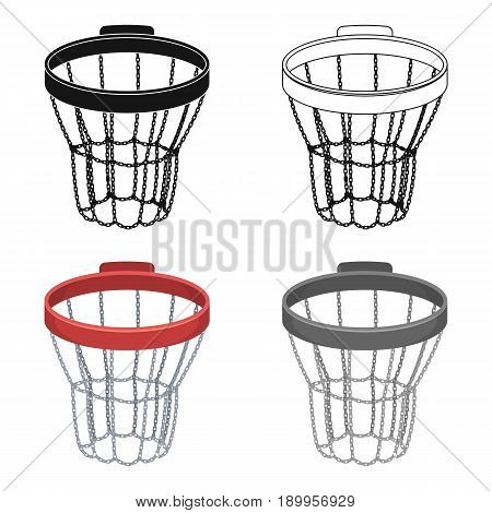 Basketball hoop.Basketball single icon in cartoon style vector symbol stock illustration .