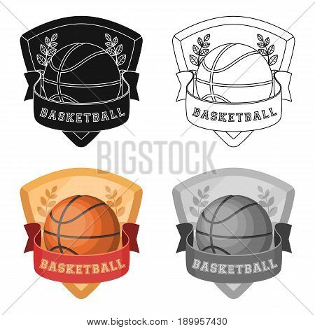 Basketball emblem.Basketball single icon in cartoon style vector symbol stock illustration .